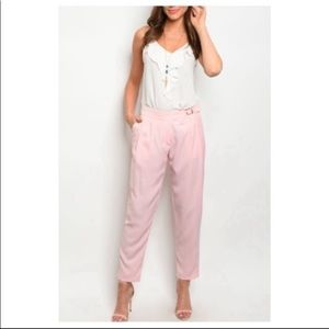 Chic Pink Harem Trousers